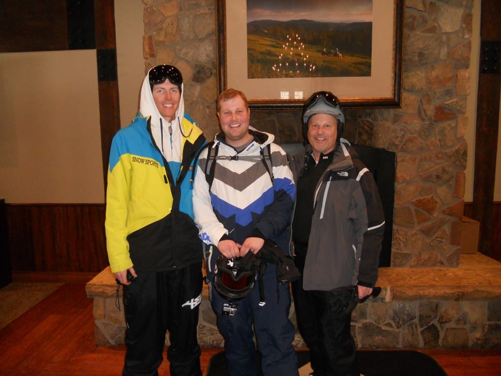 Alex (Mountain Host), Me, and my Dad