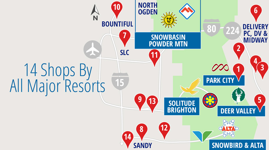 14 Shops For All Resorts